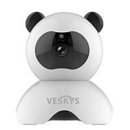 Veskys® 960p smart panda wifi ip sikkerhet overvåking kamera (1.3mp hd / 2017 søt panda modell)