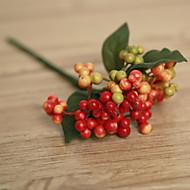 billige Kunstige blomster-5 deler 5 Gren Styropor Planter Bordblomst Kunstige blomster