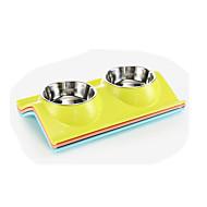ネコ 犬 餌入れ/水入れ ペット用 ボウル&摂食 防水 携帯用 耐久 ランダムカラー