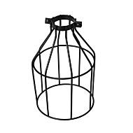 Χαμηλού Κόστους LED Gadgets-vintage βιομηχανική diy μαύρο μεταλλικό κλουβί λαμπτήρα φως σκιά φωτισμού κάλυμμα για κρεμαστά φώτα τοίχο φώτα αντικατάσταση κάλυμμα λαμπτήρα