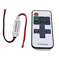 Hkv® trådløs mini LED-kontroller dimmer 11-knapps rf-fjernkontroll for enkeltfargede LED-lysdioder dc 5-24v