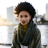 abordables -Afro Kinky Tresses Tresse Natté Bouclé Afro 8 pouces Cheveux 100 % Kanekalon Auburn foncé vin foncé Bourgogne Noir Brun Rajouts de Tresses