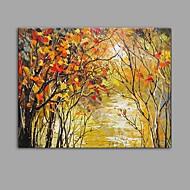baratos -Pintados à mão Paisagem Abstracto 1 Painel Tela Pintura a Óleo For Decoração para casa