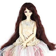 Naisten Synteettiset peruukit perverssi Tumma kastanja Doll Wig puku Peruukit
