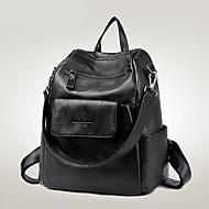 女性 バッグ PU バックパック のために カジュアル フォーマル 旅行 オールシーズン ブルー ブラック ルビーレッド
