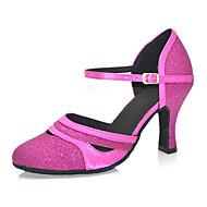 """billige Moderne sko-Dame Moderne Kunstlær Sandaler Joggesko Profesjonell Spenne Lav hæl Gull Svart Lilla 2 """"- 2 3/4"""" Kan spesialtilpasses"""