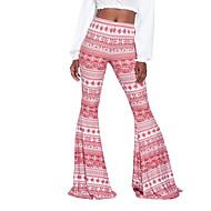 Žene Boho Visoki struk Širok kroj Klasične hlače Chinos Hlače - Print