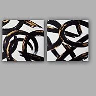 billiga Oljemålningar-Hang målad oljemålning HANDMÅLAD - Abstrakt Konst Dekor / Retro Mode Ljuv Duk