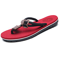 Men's Shoes PU Spring Summer Light Soles Slippers & Flip-Flops For Casual Black Brown Red