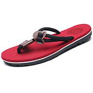 halpa -Miehet kengät PU Kevät Kesä Valopohjat Tossut & varvastossut Käyttötarkoitus Kausaliteetti Musta Ruskea Punainen