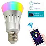 7W E27 Smart LED-lampe A60(A19) 22 leds SMD 2835 WIFI RGB Hvid 600lm 3000/6000/5000/K Vekselstrøm 85-265V