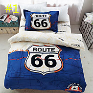 Duvet Cover Sets Painting 3 Piece Cotton Cloth Machine Made Cotton Cloth 1pc Duvet Cover 1pc Sham 1pc Flat Sheet