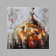 billiga Människomålningar-Hang målad oljemålning HANDMÅLAD - Människor Mode Duk