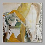 baratos -Pintura a Óleo Pintados à mão - Abstrato Abstracto Tela de pintura