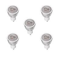billige Spotlys med LED-5pcs 3W 260-300lm GU10 LED-spotpærer MR16 3 LED perler Høyeffekts-LED Mulighet for demping Varm hvit / Hvit 220-240V / 5 stk.
