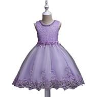 kjole kort / mini blomst pige kjole - organza ermeløs juvel hals med sequin af ydn