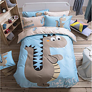 Painting 4 Piece Cotton Cloth Machine Made Cotton Cloth 1pc Duvet Cover 2pcs Shams 1pc Flat Sheet