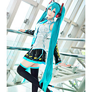 Cosplay Wigs Vocaloid Hatsune Miku Blue Extra Long / Straight Anime/ Video Games Cosplay Wigs 120 CM Heat Resistant Fiber Female