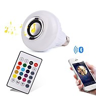 12W E27 LED Smart Bulbs 28 LEDs SMD Bluetooth Dimmable Remote-Controlled Decorative RGB 1000lm 3000/6000K AC100-240V