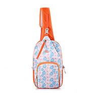 Femme Sacs Printemps/Automne Eté Toile Sac Banane pour Sports Orange Bleu Ciel Rose