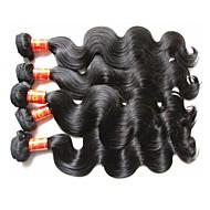 Toptan üst sınıf kalite malaysia insan saç vücut dalga 5bundles 500g çok% 100 orijinal bakire saç malzemeleri doğal siyah renk yapılmış