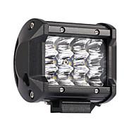 36w 3600lm 6000k 3-linhas conduzidas luz de trabalho luz legal luz offroad de estrada branca para carro / barco / farol ip68 9-32v dc