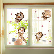 cheap Window Film & Stickers-Window Film Window Decals Style Funny Cat PVC Window Film