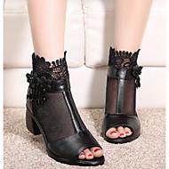Damen Schuhe PU Sommer Komfort Pumps Sandalen Für Normal Schwarz Blau