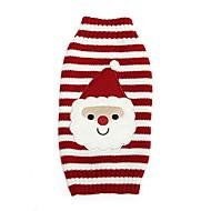 Χαμηλού Κόστους Χριστουγεννιάτικα κοστούμια για κατοικ-Γάτα Σκύλος Παλτά Πουλόβερ Ρούχα για σκύλους Κινούμενα σχέδια Κόκκινο Spandex Βαμβάκι/Μείγμα Λινού Στολές Για κατοικίδια Πάρτι Καθημερινά