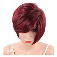 Syntetiske parykker Bølget / Naturligt, bølget hår / Naturlig lige Syntetisk hår Rød Paryk Kort Lågløs
