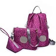 お買い得  バッグ-女性用 バッグ ナイロン バッグセット 3個の財布セット のために カジュアル ブラック / フクシャ / コーヒー