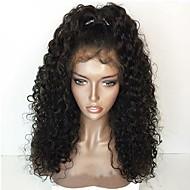 Ženy Paruky z přírodních vlasů Přírodní vlasy Se síťovanou přední částí 130% Hustota Kudrnaté Paruka Černá Střední Dlouhý Přírodní