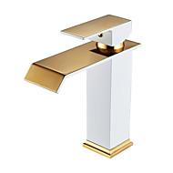 halpa -Integroitu Vesiputous Keraaminen venttiili Yksi kahva yksi reikä Maalaus , Kylpyhuone Sink hana