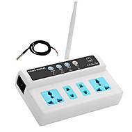 Gsm socket לעבור ממסר מרחוק נשלט 3 דרכים שקעי חשמל בקר עם חיישן טמפרטורה sms להתקשר תזמון שליטה