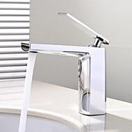 halpa -Pöytäasennus Keraaminen venttiili Yksi kahva yksi reikä Kromi , Kylpyhuone Sink hana