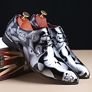 お買い得  メンズオックスフォードシューズ-男性用 靴 TPU 春 / 秋 フォーマルシューズ オックスフォードシューズ イエロー / Brown / ブルー / 結婚式 / オックスフォード印刷