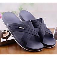 baratos Sapatos Masculinos-Homens Couro Ecológico Verão Conforto Chinelos e flip-flops Preto / Cinzento / Azul