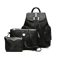 Χαμηλού Κόστους Σετ τσάντες-Γυναικεία Τσάντες PU Σετ τσάντα 3 σετ Σετ τσαντών Μαύρο / Ρουμπίνι / Βυσσινί / Τσάντα Σετ