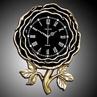 tanie Tamtejsze Zegary ścienne-Na co dzień Modern / Contemporary Tradycyjny Kraj Retro Biuro / Biznes Żywica Kwiat Domowy,AA