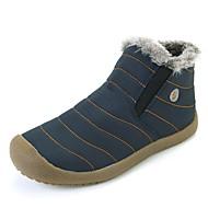 billige -60%-Herre Støvler Snøstøvler Ankelstøvel Lette såler Tekstil Vinter Avslappet Flat hæl Grå Blå Flat