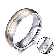 Between the gold men's ring ring titanium jewelry fashion ring