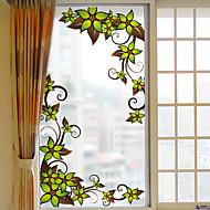 Bloemen Raamsticker,PVC/Vinyl Materiaal raamdecoratie