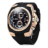 Men's Sport Watch Dress Watch Fashion Watch Chinese Quartz Rubber Band Cool Casual Black