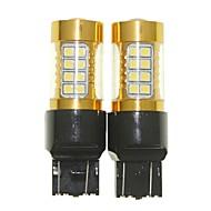 Sencart 2pcs 7443 w21 21w w3x16q lâmpada piscante led carro cauda volta lâmpadas de luz de luz reversa (branco / vermelho / azul / branco
