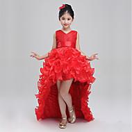 prinsesse feje / børste tog blomst pige kjole - bomuld polyster ærmeløs v hals ved bflower