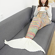 cheap -Blanket Travel Blanket Emergency Blanket Casual/Daily Mermaid