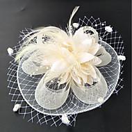 Fjer Net Betagere Blomster Hatte with Fjer / pels Blomster 1pc Bryllup Speciel Lejlighed Medaljon