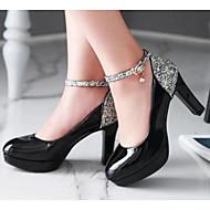 Femme Chaussures Polyuréthane Automne Confort Chaussures à Talons Pour Décontracté Blanc Noir Beige Rose