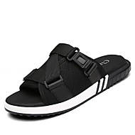Men's Slippers & Flip-Flops Comfort Summer Fall Leather Canvas Upstream Shoes Casual Dress Outdoor Black Under 1in