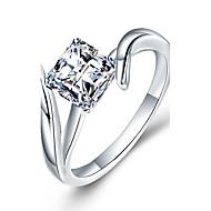 Žene Luksuz Kubični Zirconia Sintetički dijamant Plastika Zircon Umjetno drago kamenje Band Ring - Geometric Shape Luksuz Klasik DIY